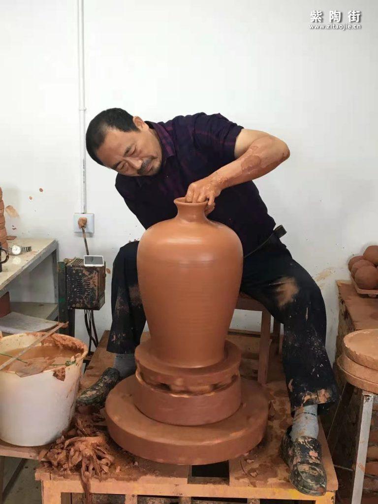 范成雄紫陶茶罐欣赏插图2