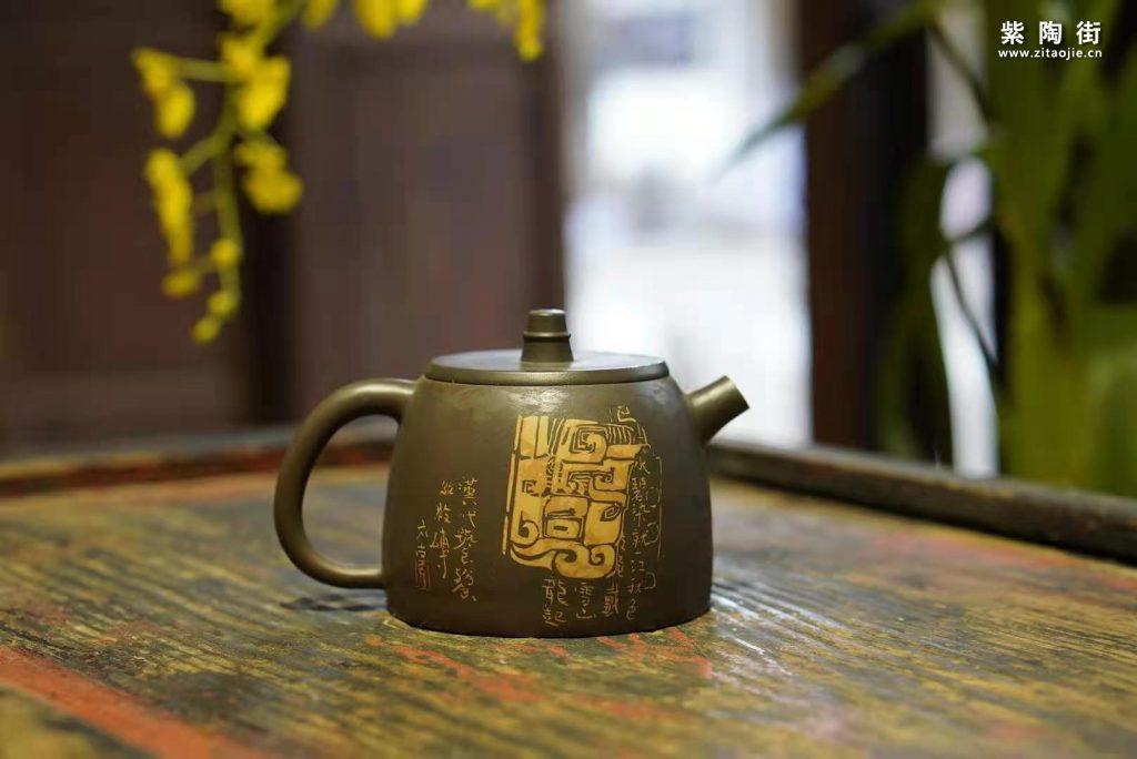许文龙手工打磨紫陶作品插图