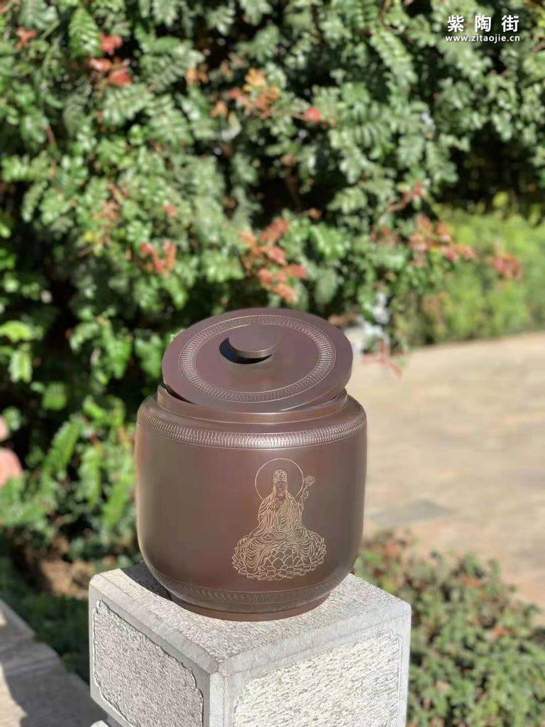 范成雄紫陶茶罐欣赏插图6