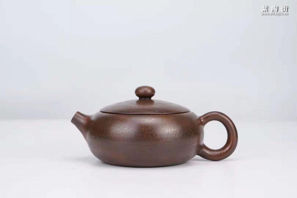 菩提纹紫陶壶欣赏:菩提侧把壶、扁西施、井栏壶插图4