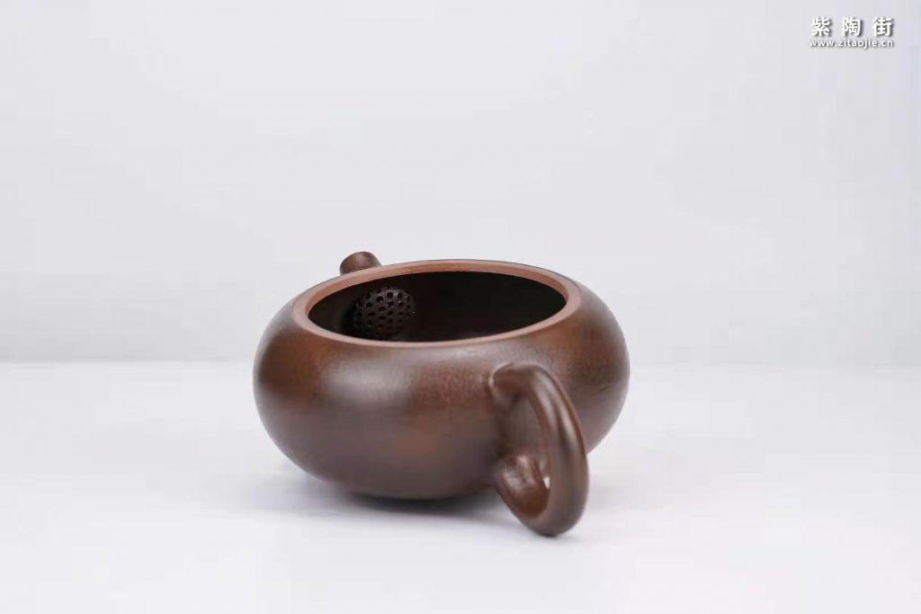菩提纹紫陶壶欣赏:菩提侧把壶、扁西施、井栏壶插图5
