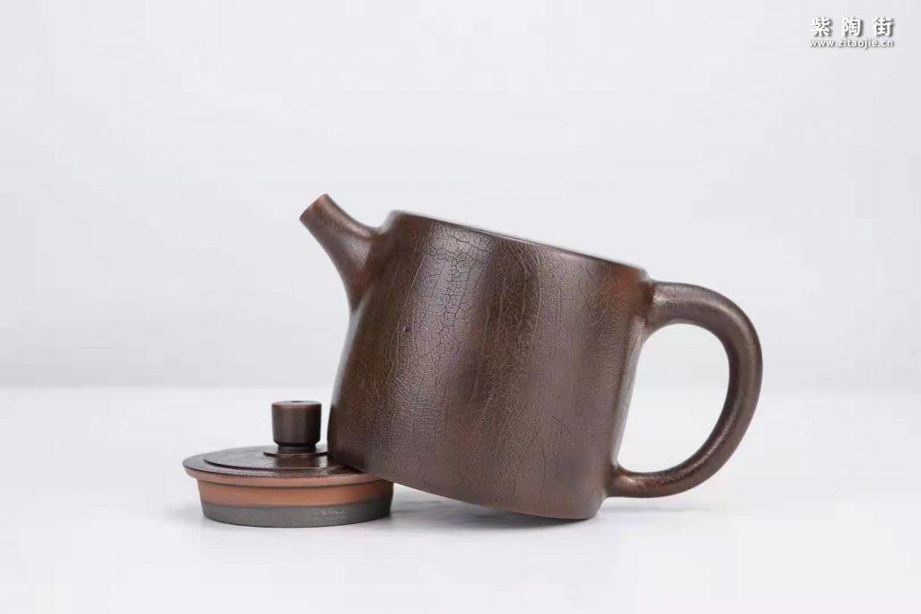 菩提纹紫陶壶欣赏:菩提侧把壶、扁西施、井栏壶插图7