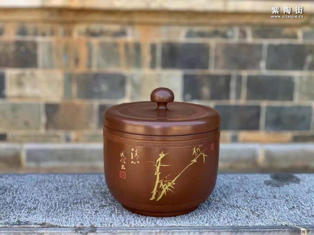 范成雄紫陶茶罐欣赏插图27