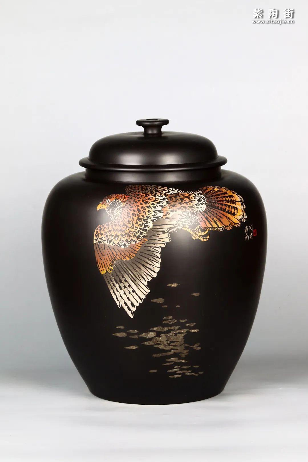 花鸟装饰的建水紫陶茶缸插图20