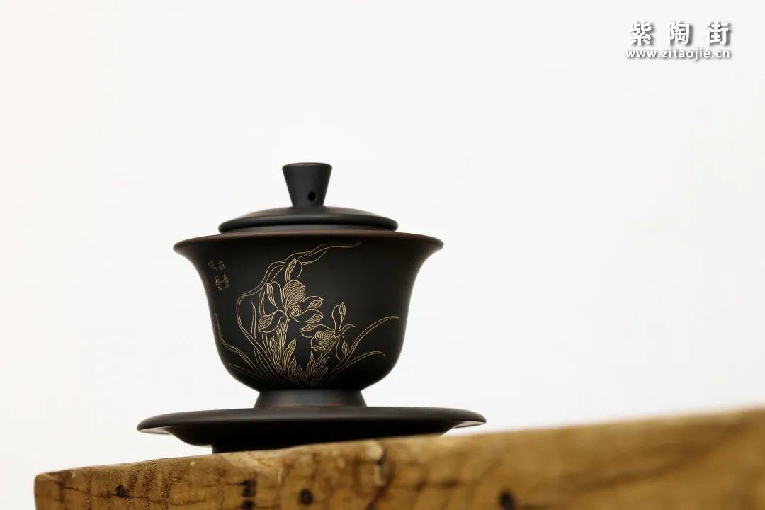 建水紫陶盖碗插图2