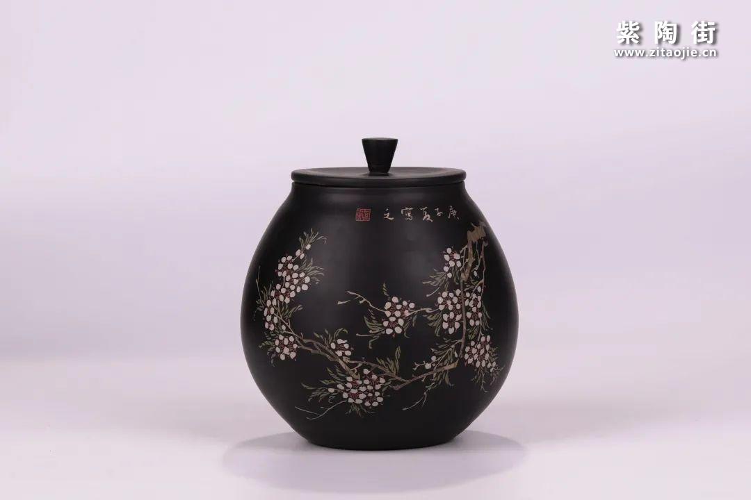 建水紫陶醒茶罐插图1