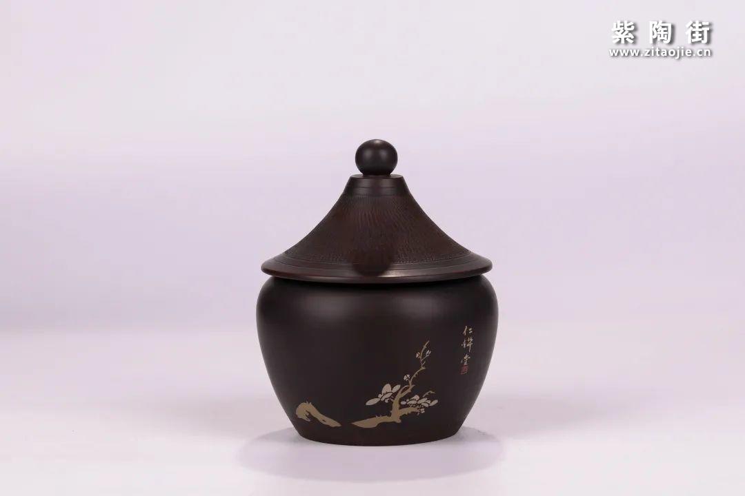建水紫陶醒茶罐插图6