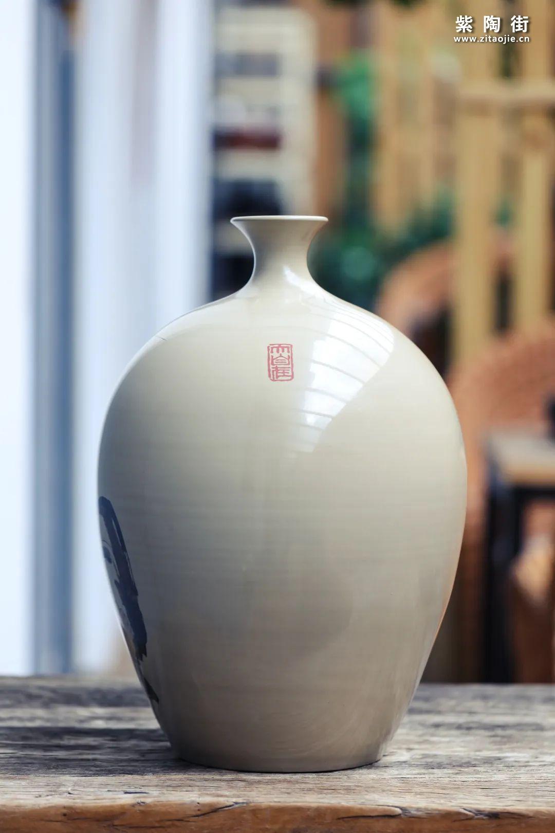 廖建忠紫陶花瓶赏插图16