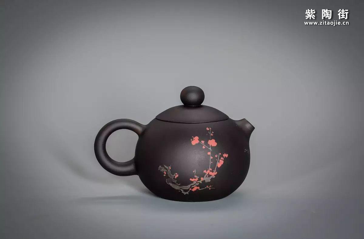 王志伟丁酉仲夏作紫陶壶插图1