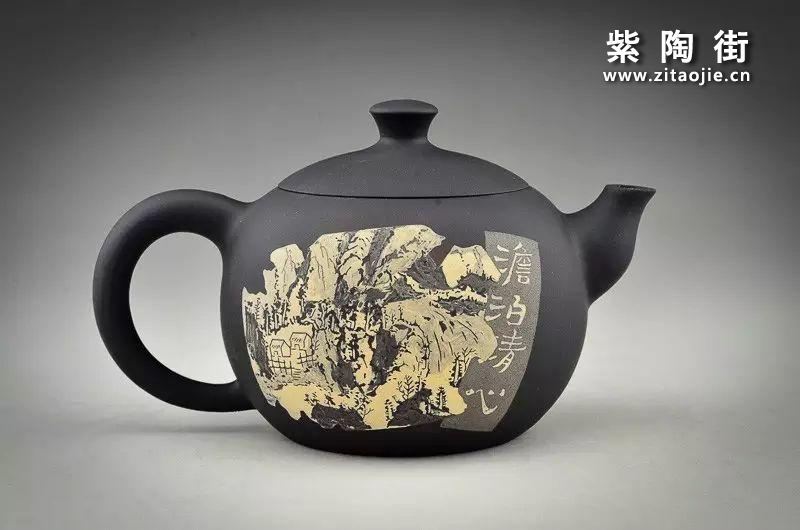 王志伟水墨山水装饰紫陶壶插图10