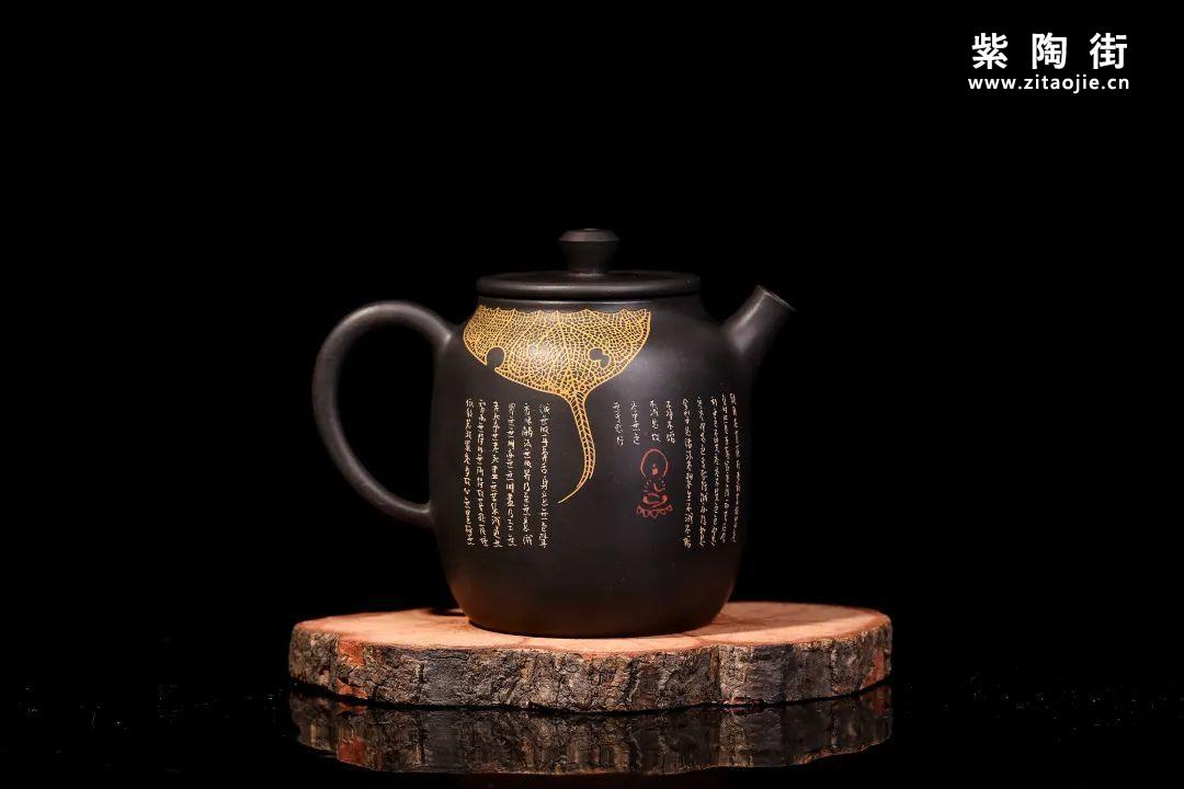 装饰有禅意的建水紫陶壶插图10
