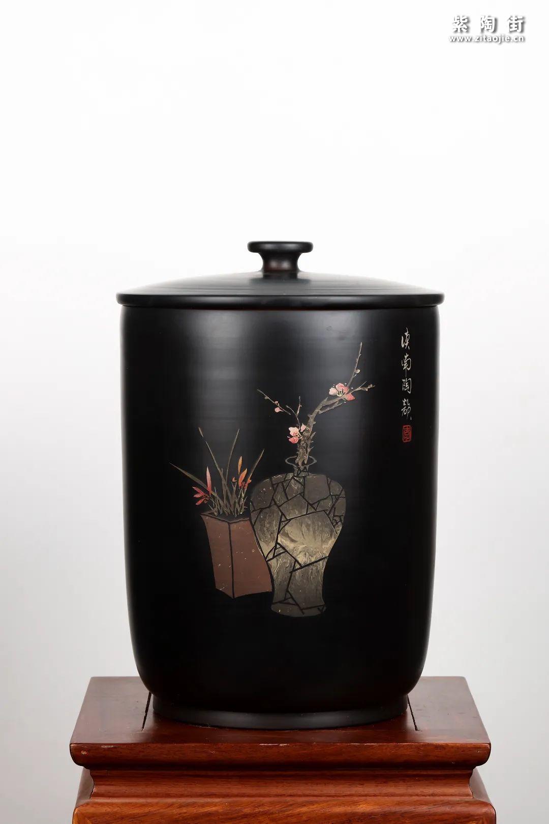 建水紫陶九饼缸展示插图24