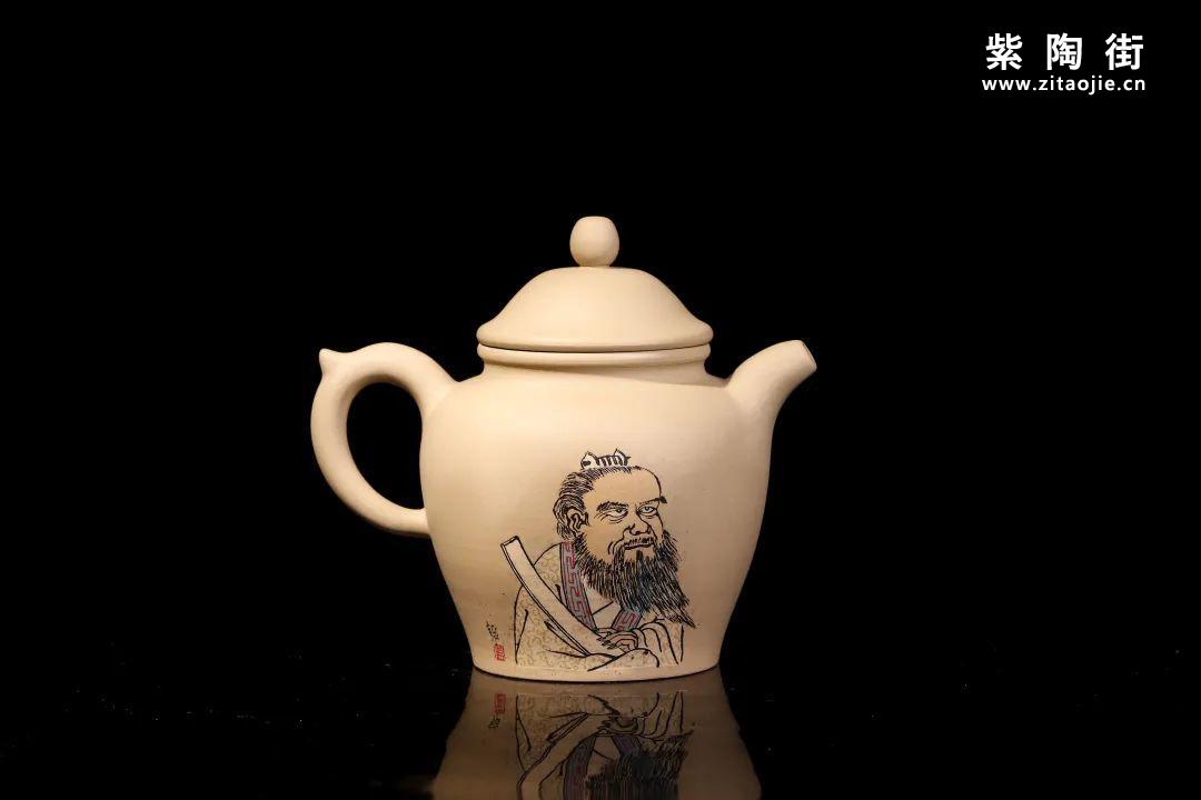 装饰有禅意的建水紫陶壶插图2