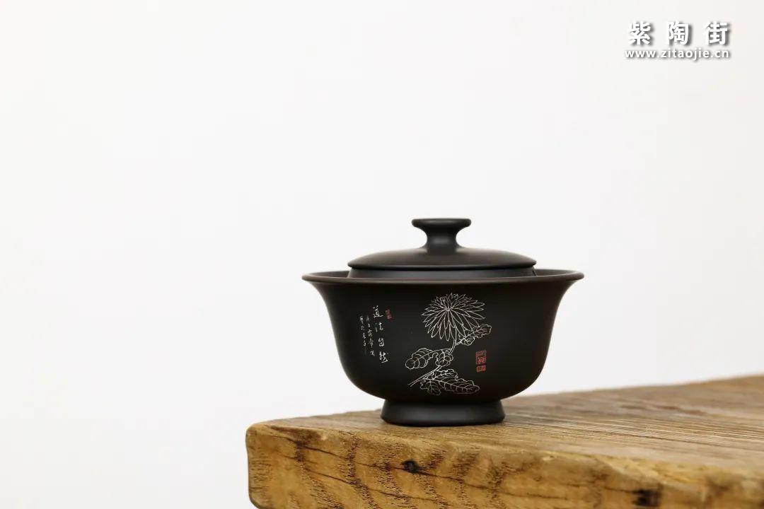 建水紫陶盖碗插图4