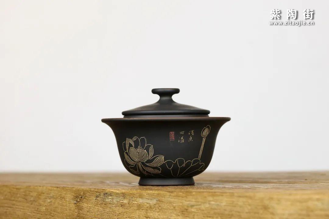 建水紫陶盖碗插图8