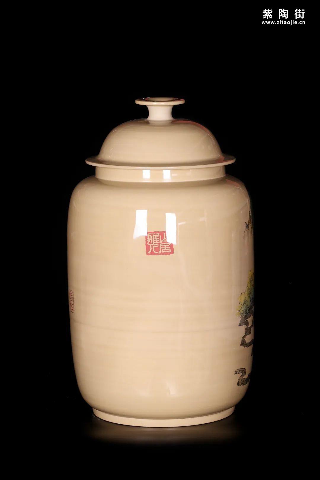 廖建忠、廖渊涵的青绿山水装饰紫陶缸插图13