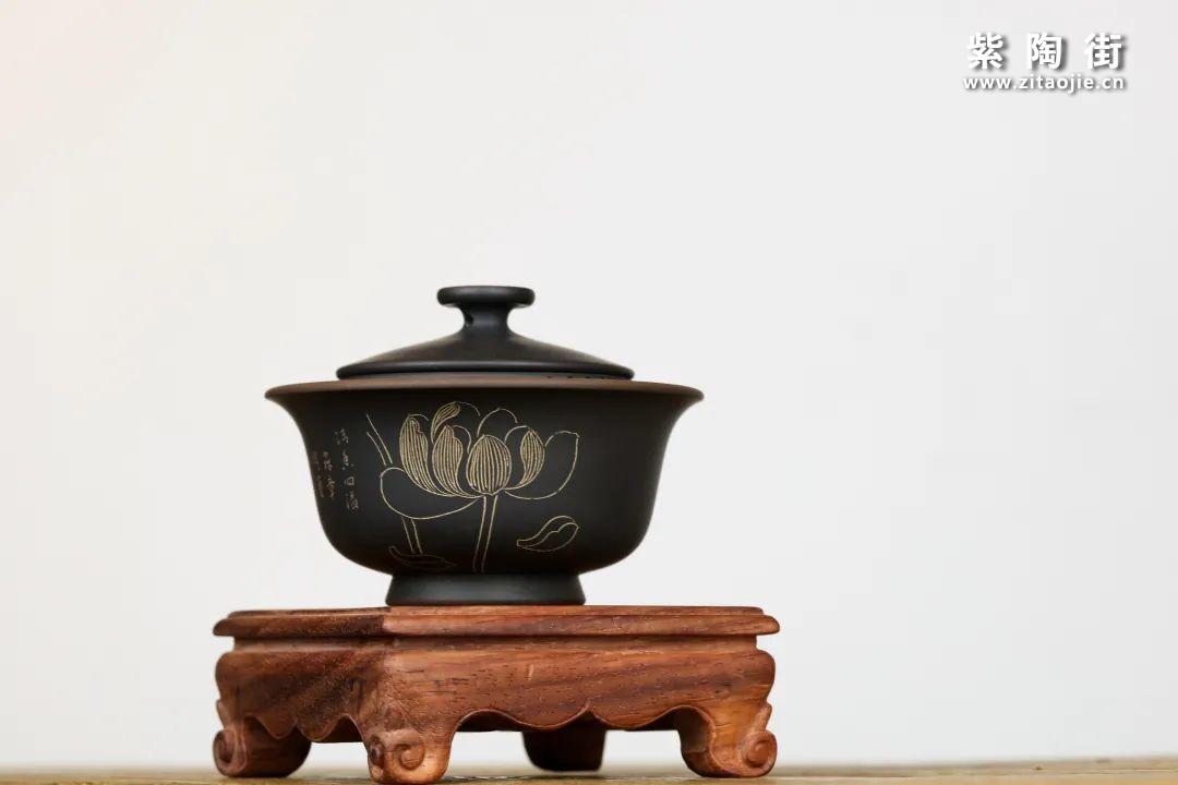 建水紫陶盖碗插图7