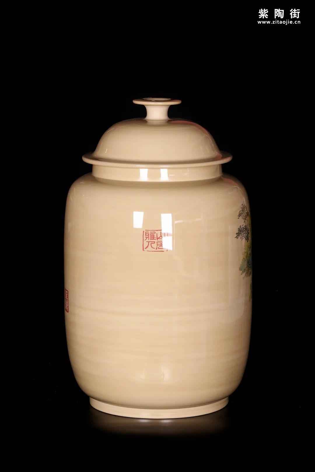 廖建忠、廖渊涵的青绿山水装饰紫陶缸插图11