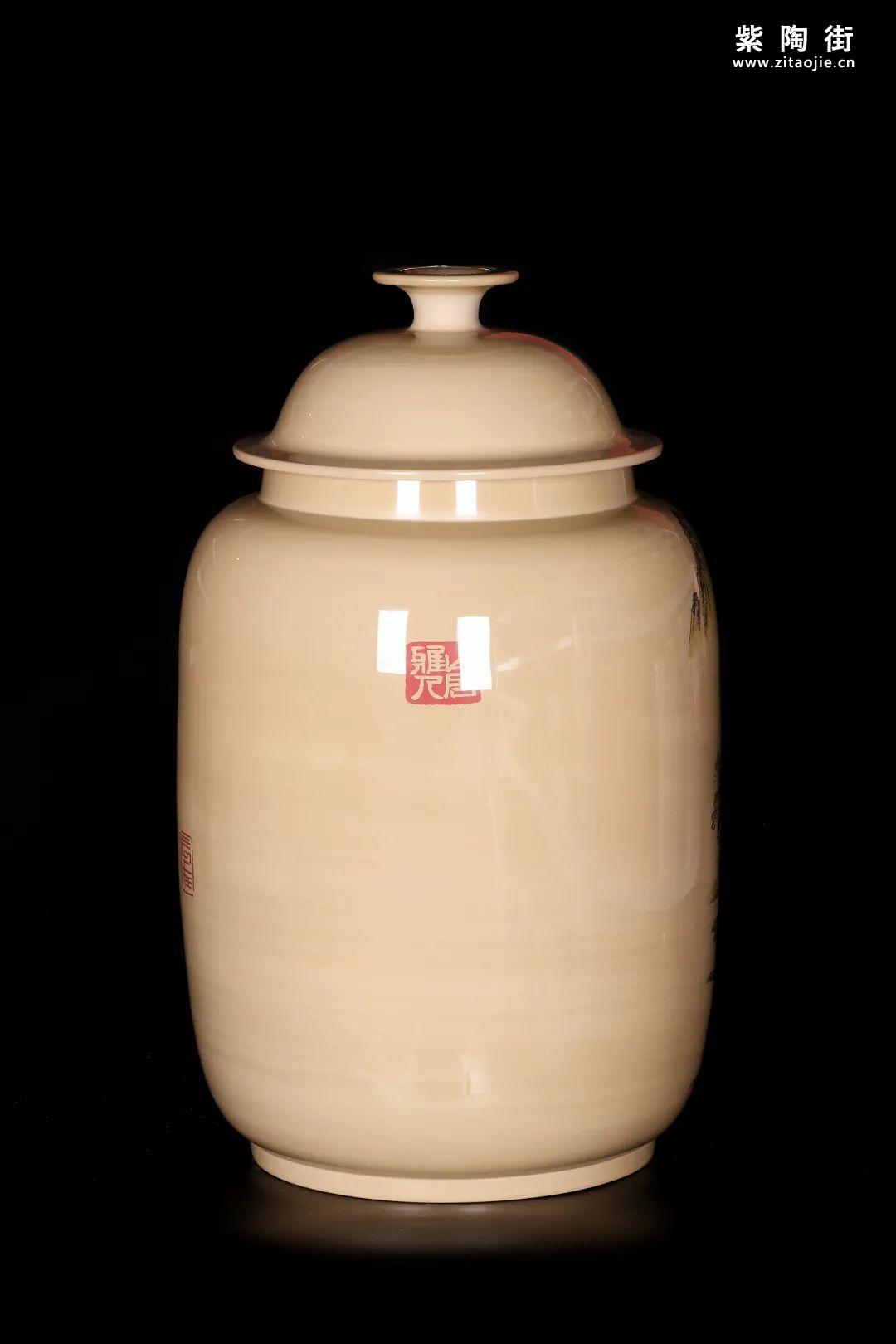 廖建忠、廖渊涵的青绿山水装饰紫陶缸插图17
