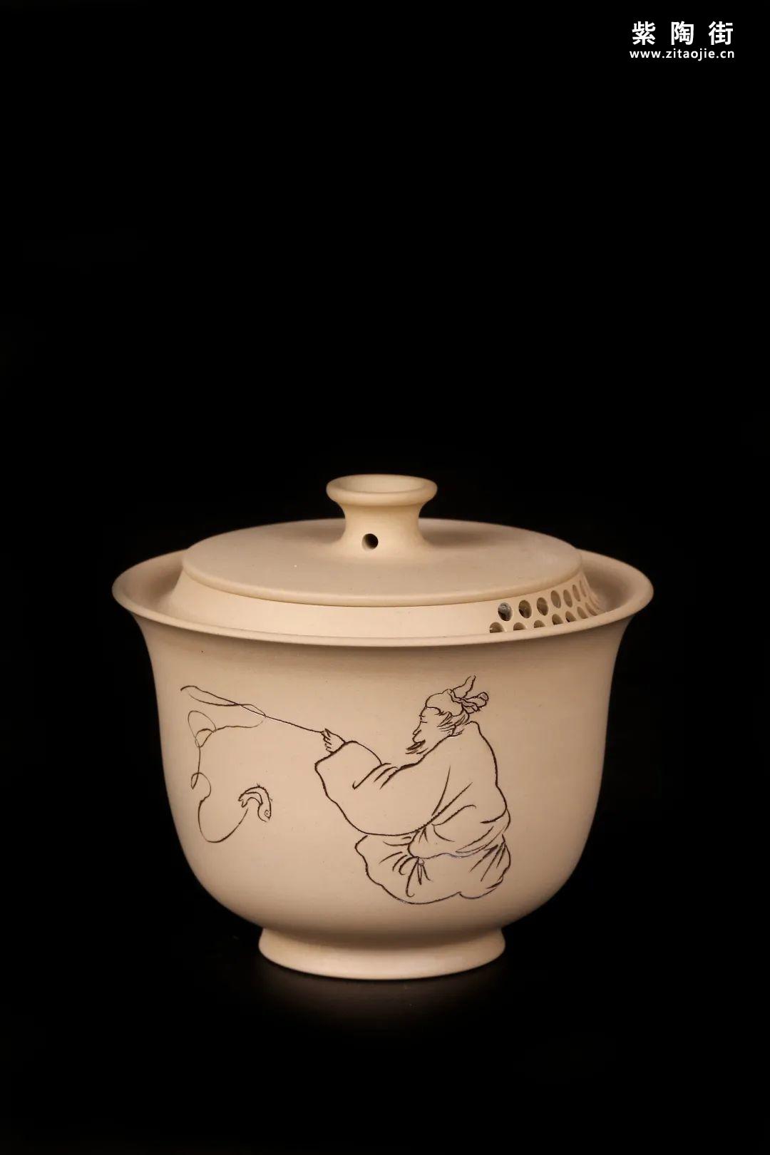 建水紫陶盖碗插图21