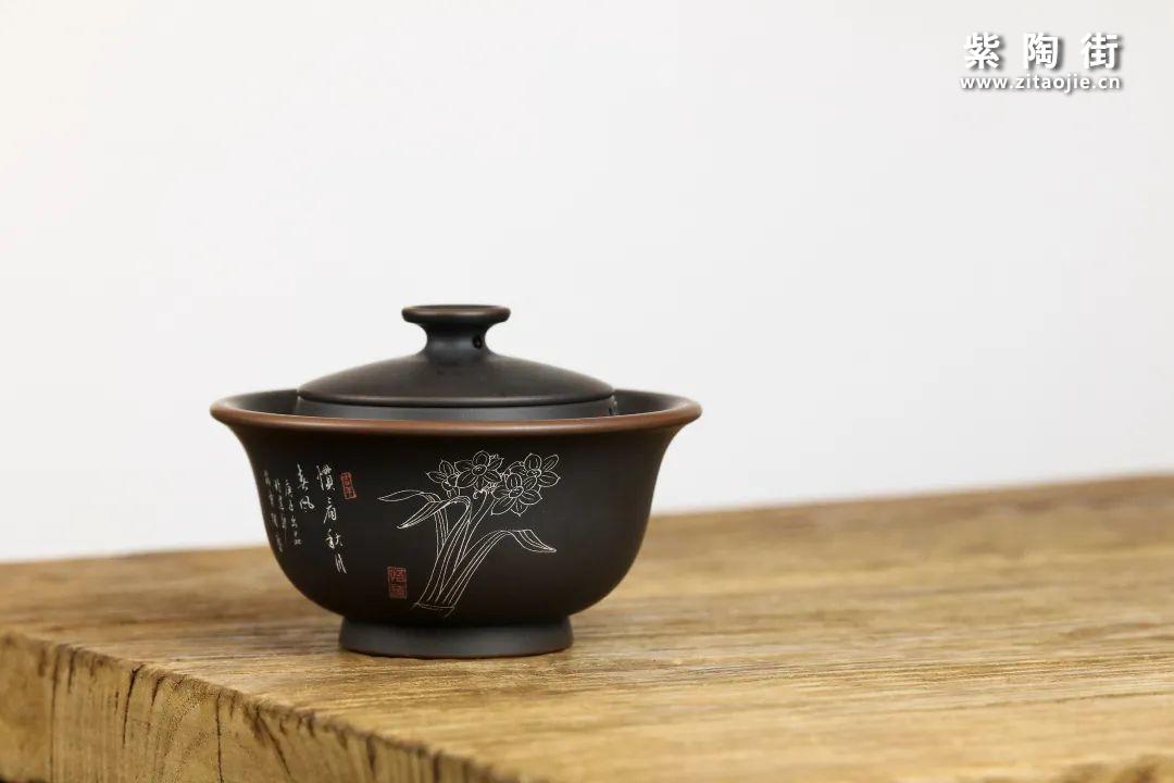 建水紫陶盖碗插图3