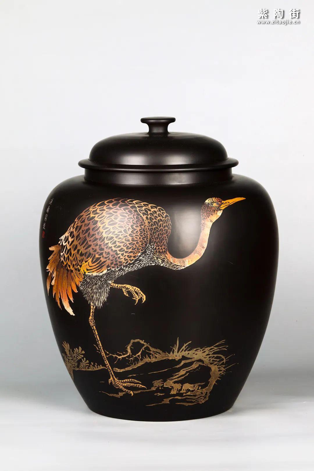 花鸟装饰的建水紫陶茶缸插图19