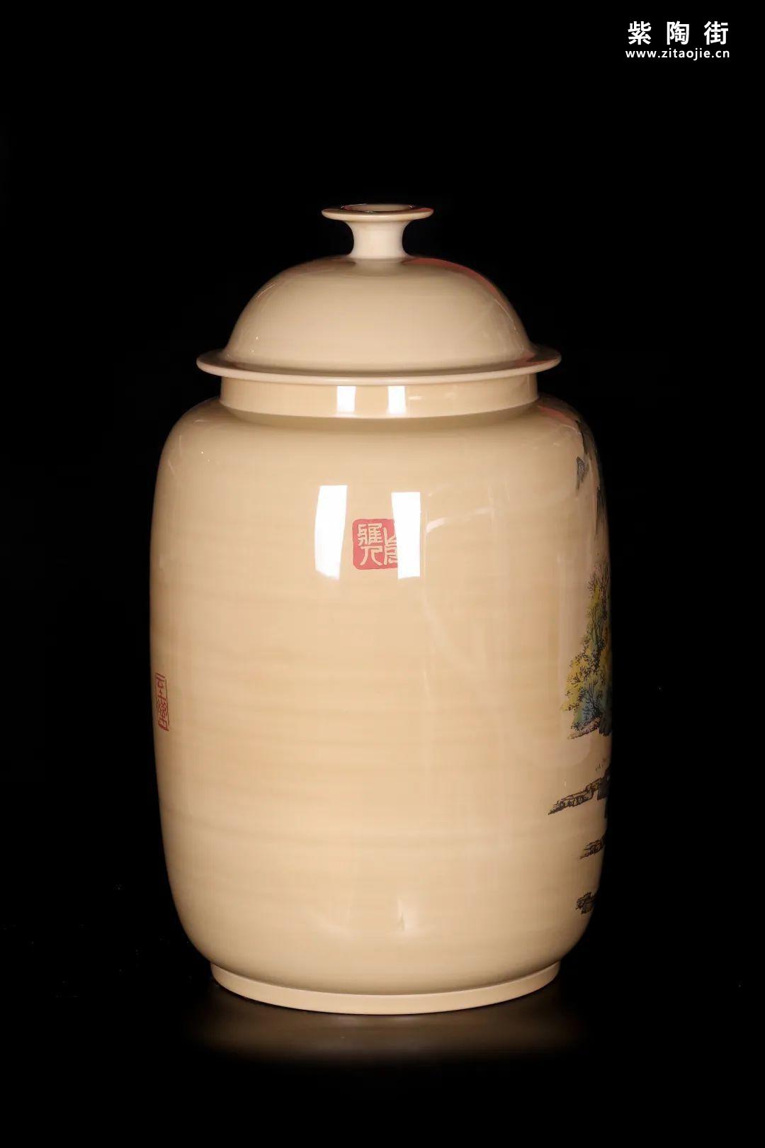 廖建忠、廖渊涵的青绿山水装饰紫陶缸插图15