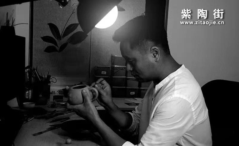 建水紫陶陈七铭介绍和菩提心经茶罐、菩提心经壶、菩提心经杯插图1