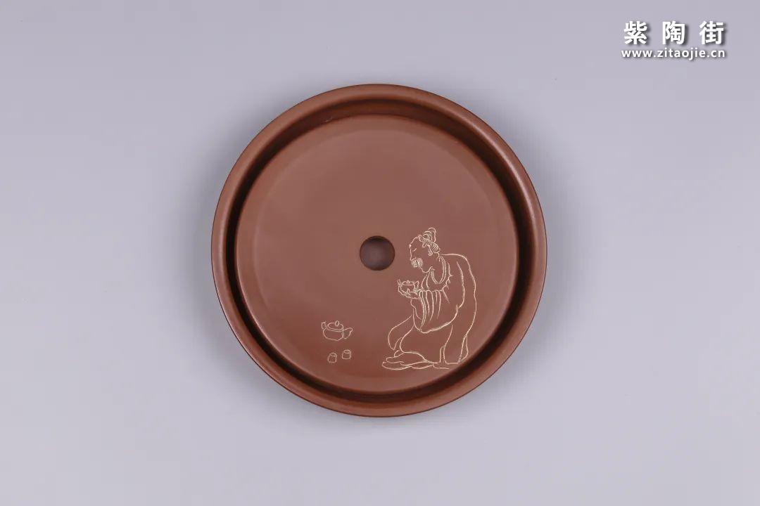 建水紫陶干泡盘插图19