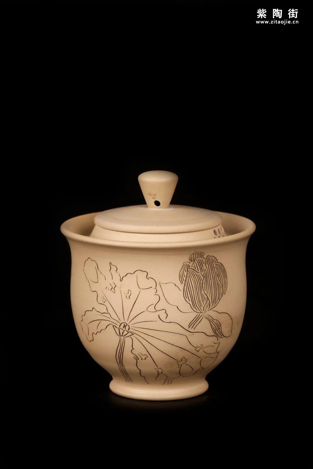 建水紫陶盖碗插图24