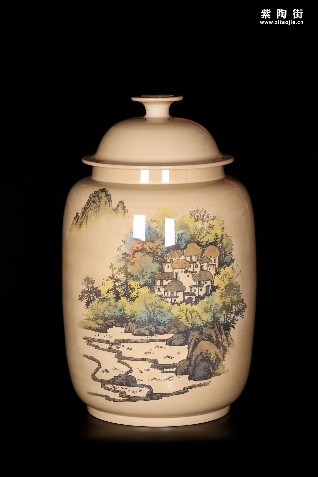 廖建忠、廖渊涵的青绿山水装饰紫陶缸插图16
