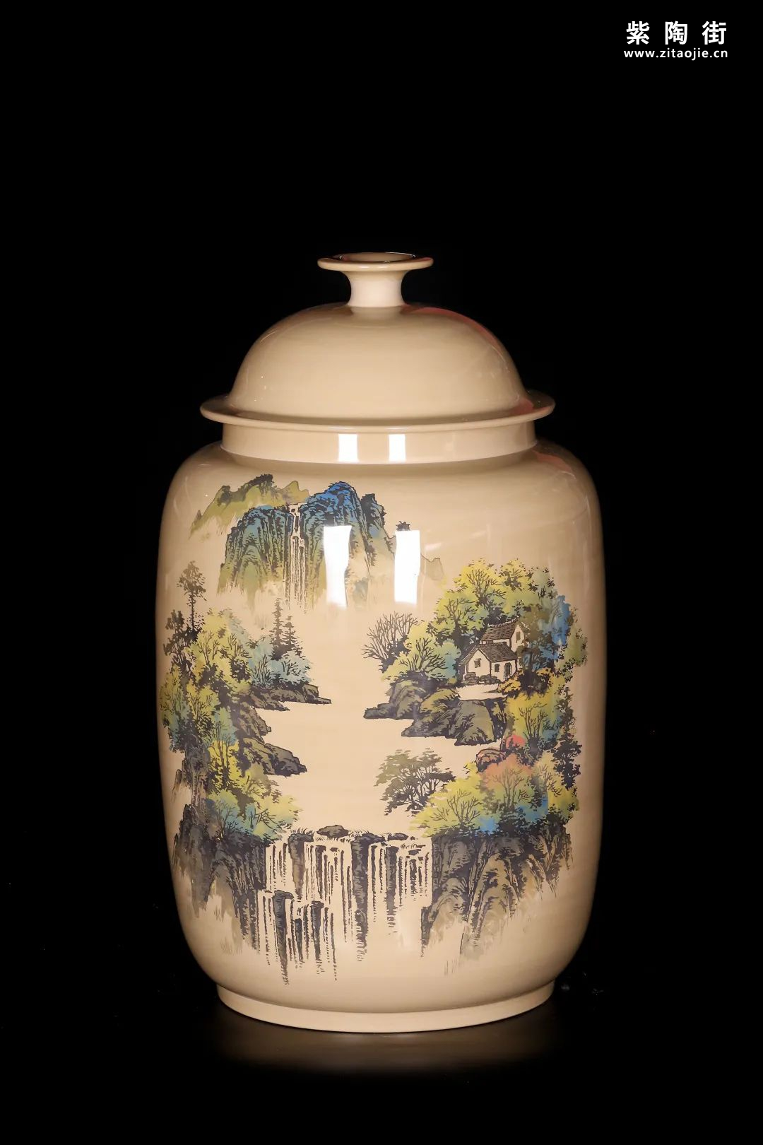 廖建忠、廖渊涵的青绿山水装饰紫陶缸插图8