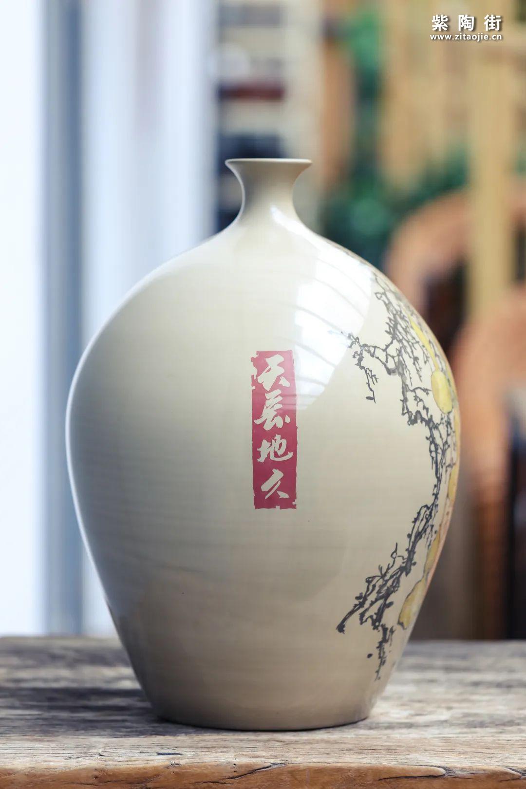 廖建忠紫陶花瓶赏插图18