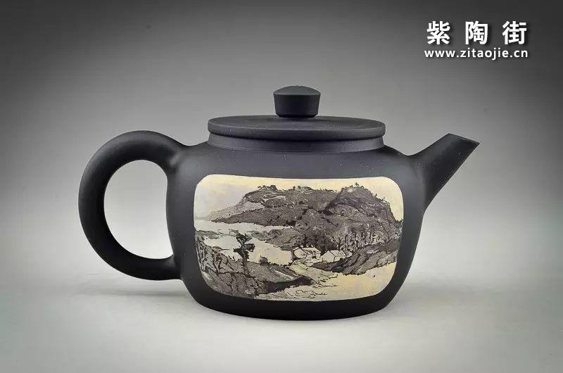 王志伟水墨山水装饰紫陶壶插图8
