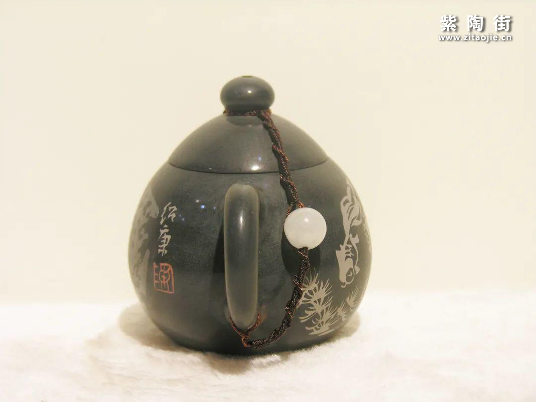 陈绍康彩残贴鱼藻纹龙旦壶插图6