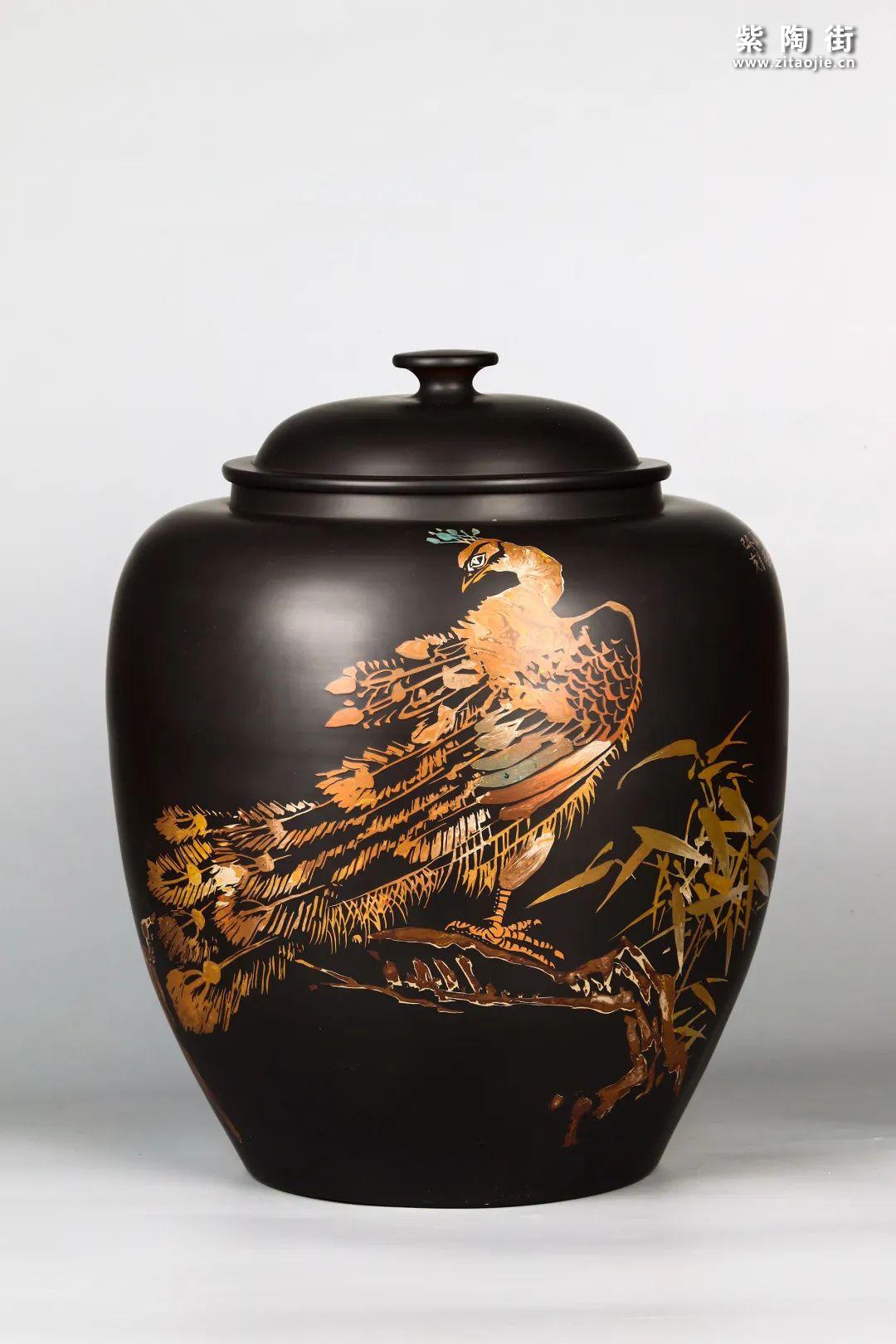 花鸟装饰的建水紫陶茶缸插图18