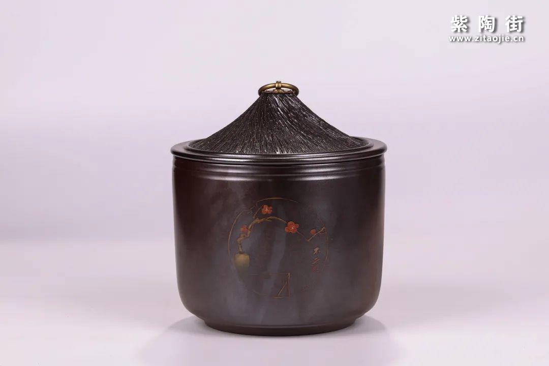 建水紫陶醒茶罐插图2