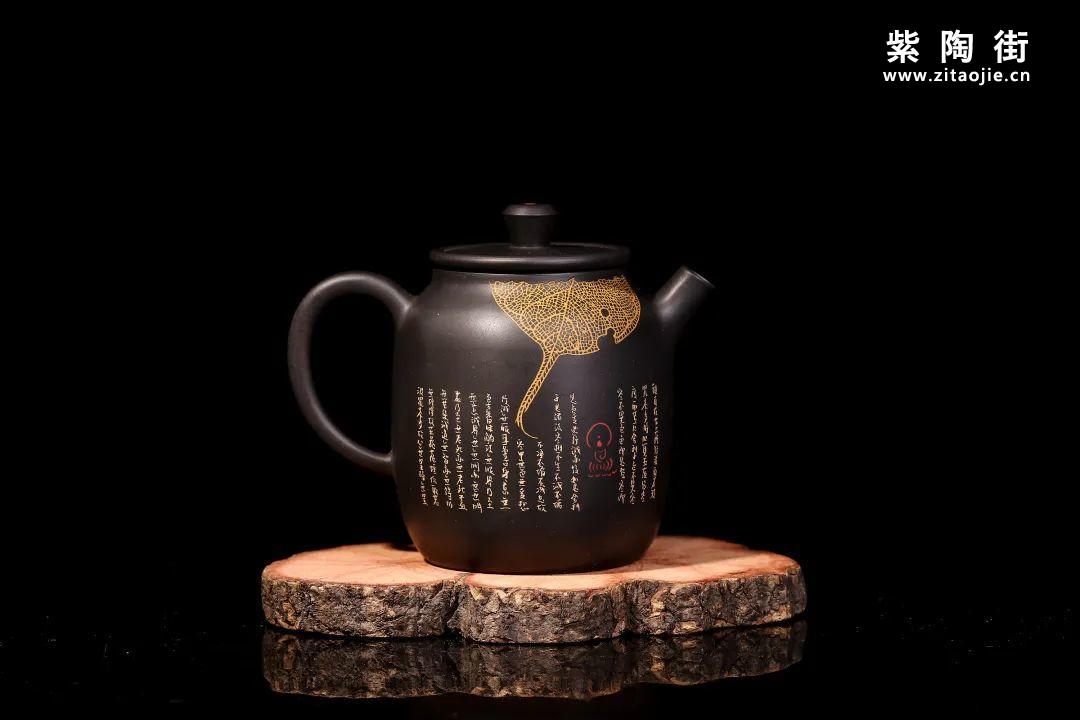 装饰有禅意的建水紫陶壶插图8