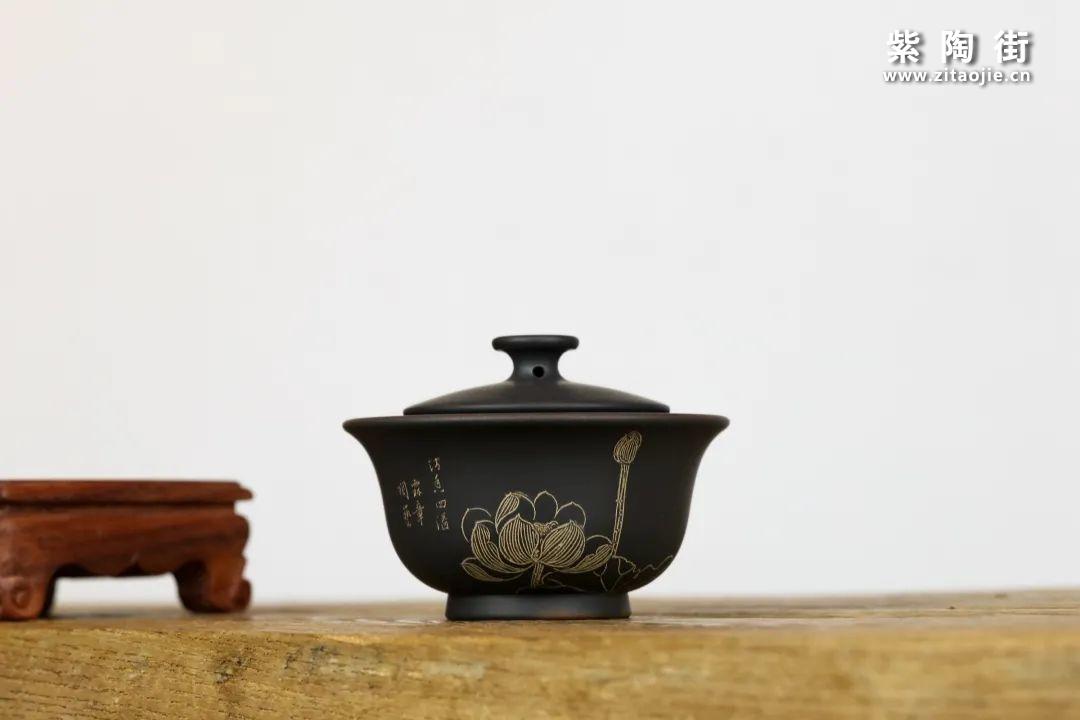 建水紫陶盖碗插图9