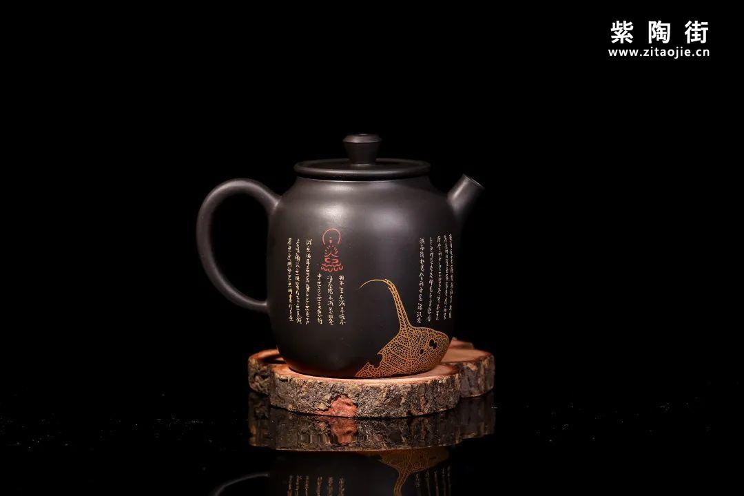 装饰有禅意的建水紫陶壶插图16