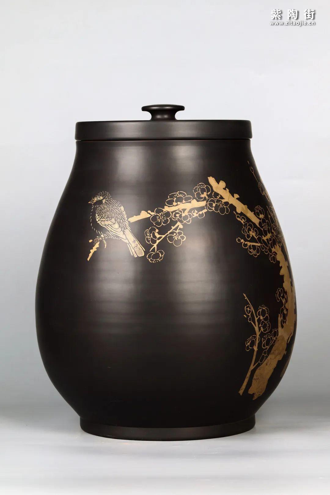 花鸟装饰的建水紫陶茶缸插图22