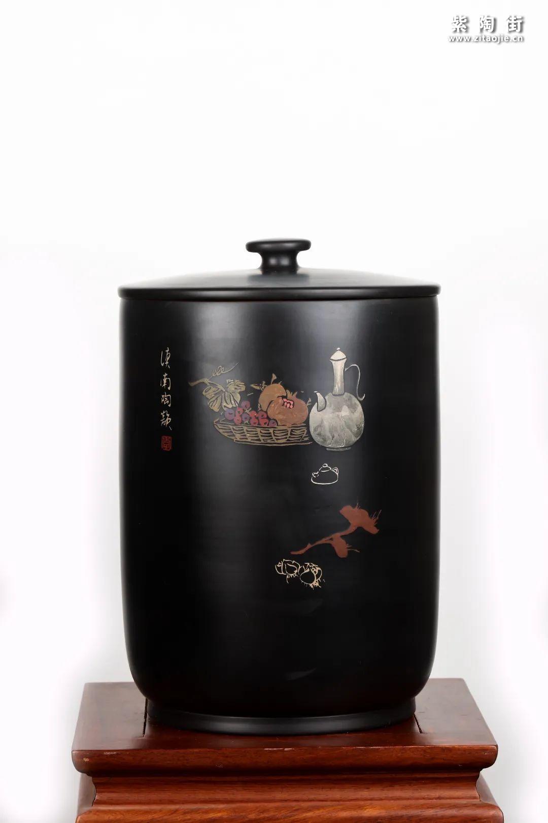 建水紫陶九饼缸展示插图14
