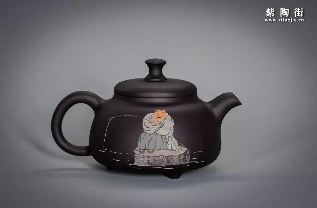 王志伟丁酉仲夏作紫陶壶插图8