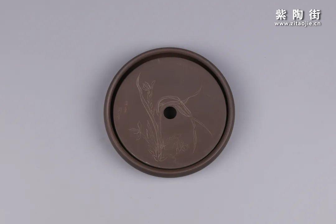建水紫陶干泡盘插图134