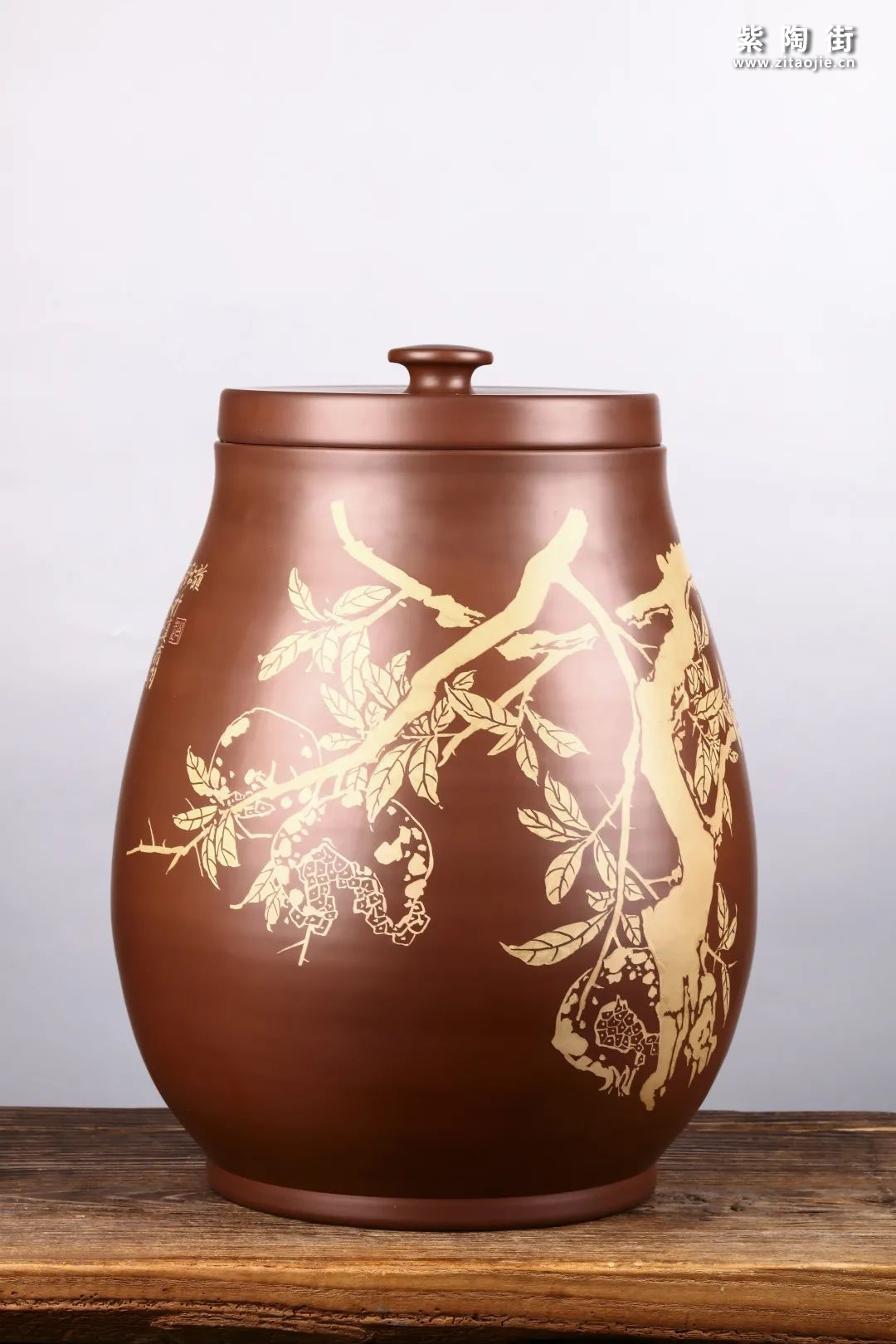 建水紫陶存普洱茶插图1