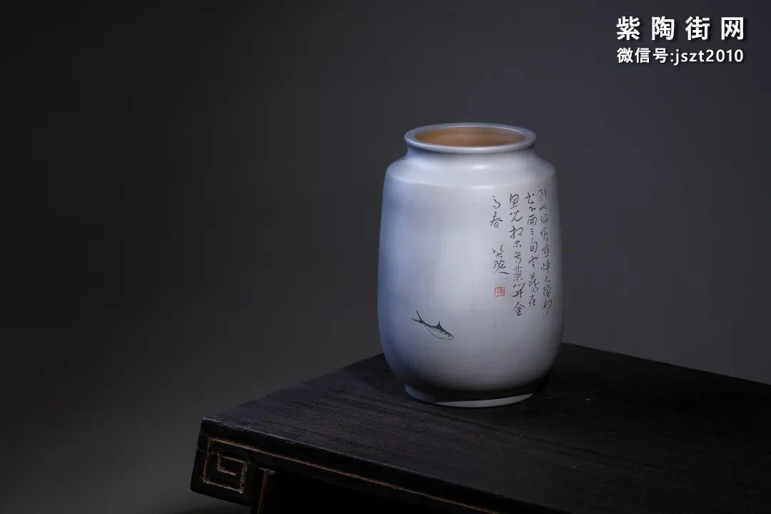 建水吴玉平简介及紫陶花瓶欣赏插图18