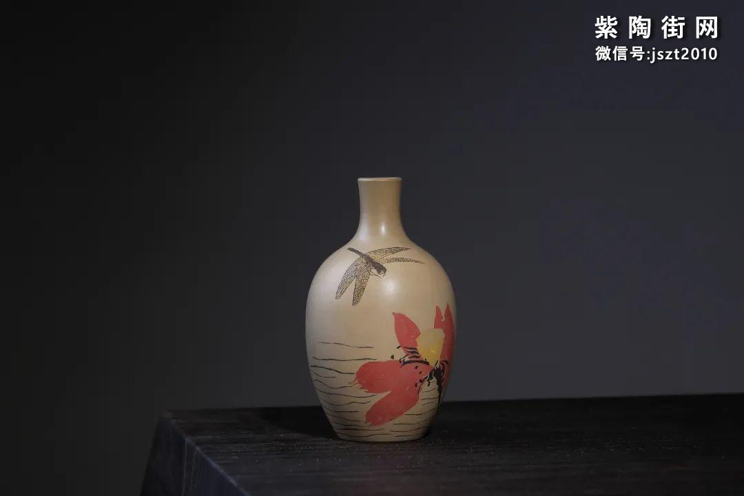 建水吴玉平简介及紫陶花瓶欣赏插图8
