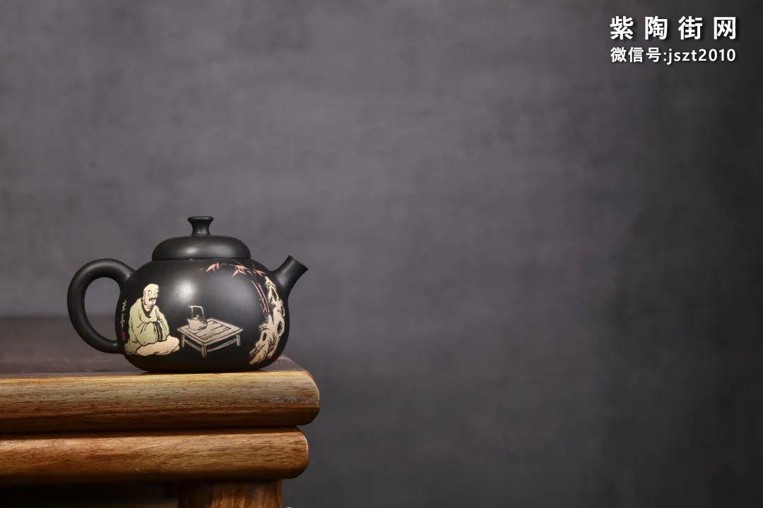 朱玄峰建水紫陶壶欣赏插图2