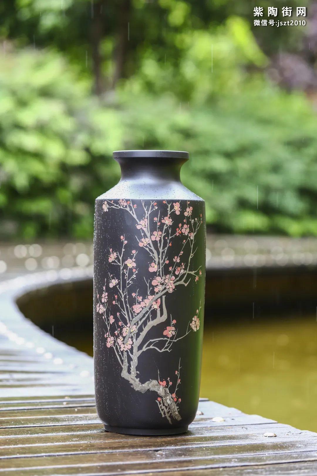 建水紫陶花瓶雅赏-紫陶街