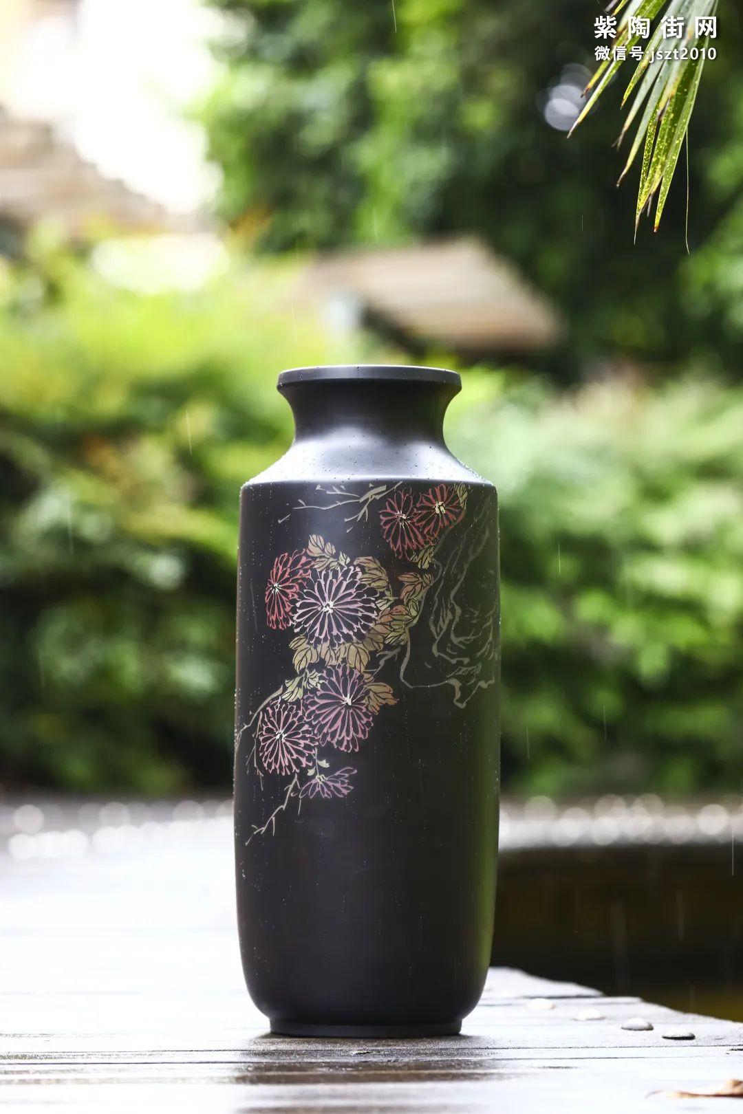 建水紫陶花瓶雅赏插图10